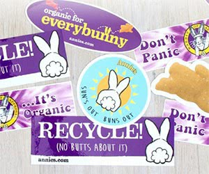 """Free Annie's Homegrown """"Recycle"""" And More Stickers"""