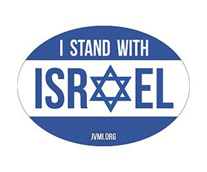 "Free ""I Stand With Israel"" JVMI Car Magnet"
