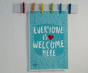 "Free ""Everyone Is Welcome Here"" Classroom Poster"
