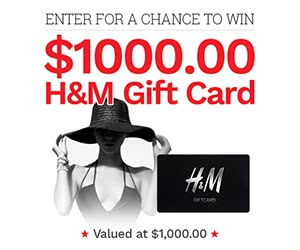 Win $1000 H&M Gift Card