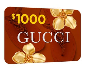 Free $1000 Gucci Gift Card