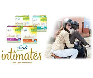 Free TENA Intimates Overnight Pads And Underwear With ProSkin Technology Trial Kit