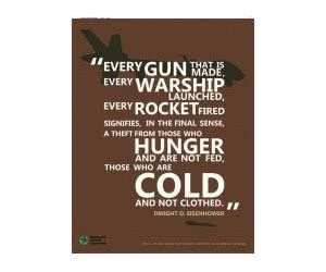 "Free ""Every Gun That Is Made"" Peace Poster"