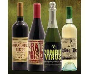 Free Halloween Wine Bottle Stickers