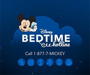 Free Disney Hotline Goodnight Message From Disney Characters