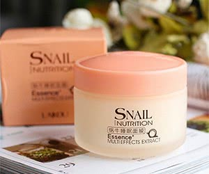 Free Snail Sleeping Mask Essence Moisturizing Night Cream Anti Aging Wrinkle Cream