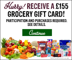 Free £155 Grocery Gift Card