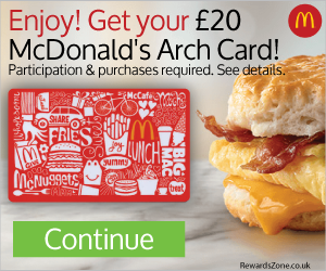 Free £20 McDonald's Arch Card