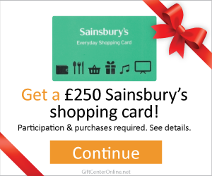 Free £250 Sainsbury's Shopping Card