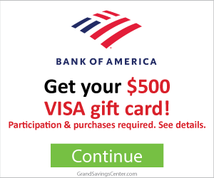 Free $500 Bank of America Visa Gift Card