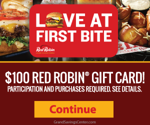 Free $100 Red Robin Gift Card