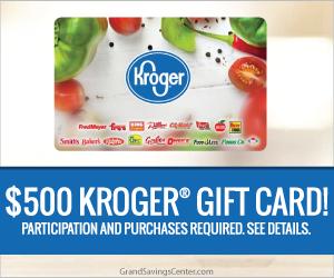 Free $500 Kroger Gift Card