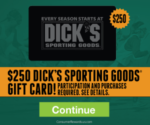 Free $250 Dick's Sporting Goods Gift Card