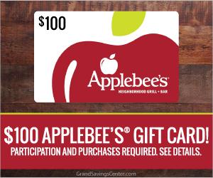 Free $100 Applebee's Gift Card