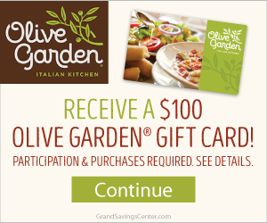 Free $100 Olive Garden Gift Card