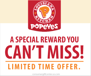 Free $50 Popeyes Gift Card