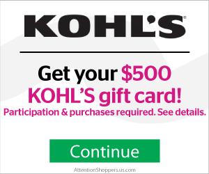 Free $500 Kohl's Gift Card