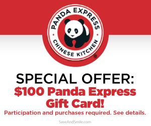 Free $100 Panda Express Gift Card