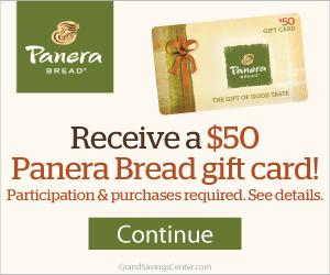 Free $50 Panera Bread Gift Card