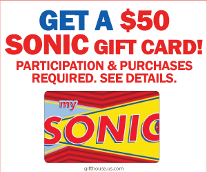 Free $50 Sonic Gift Card