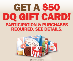 Free $50 DQ Gift Card