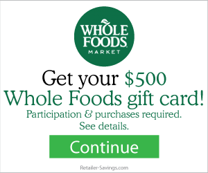 Free $500 Whole Foods Gift Card