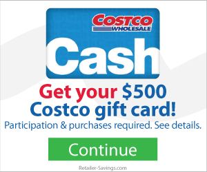 Free $500 Costco Gift Card