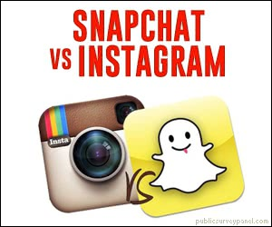 Which do you prefer? Snapchat or Instagram? Get a Free Visa Gift Card