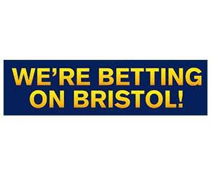 "Free ""We're Betting On Bristol"" Sticker"
