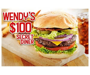 Free $100 Wendy's Gift Card