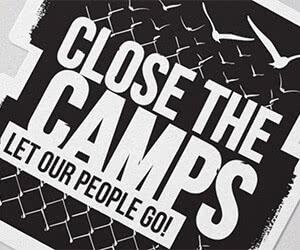"Free ""Close The Camps"" Sticker"