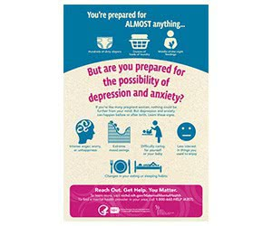 "Free ""Moms' Mental Health Matters: Prepared for Anything"" Wall Poster"