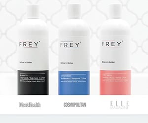 Free Frey Shampoo, Conditioner And Body Wash Sample Pack