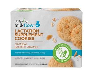 Free UpSpring Milkflow Oatmeal Salted Caramel Lactation Cookies