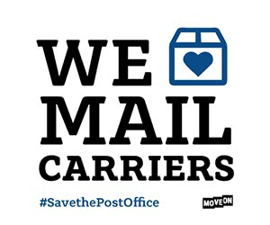 """Free """"We Love Mail Carriers"""" Stickers"""