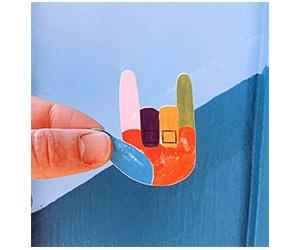 Free Pincause ILY x3 Stickers