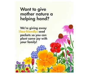 Free Zarbee's Bee-Friendly Seed Packets