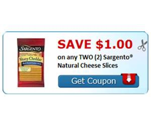 Save $1.00 on any TWO (2) Sargento® Natural Cheese Slices