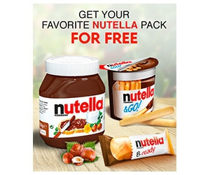 Free Nutella Pack