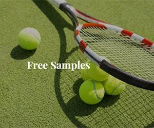 Free ADA Kid Super Squish Ball And Badminton Racket Samples