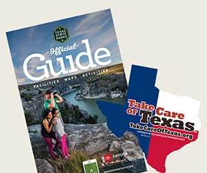 Free Texas State Parks Official Guide And Bumper Sticker