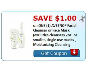 Save $1.00 on ONE (1) AVEENO® Facial Cleanser or Face Mask