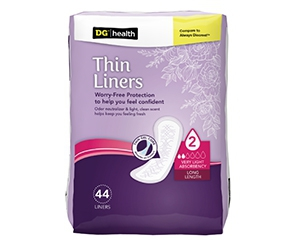 Free Feminine Care Thin Liners From DG Health