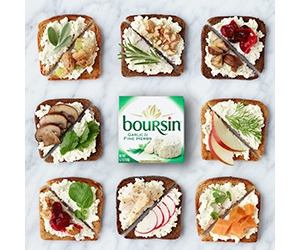 Free Boursin Garlic & Fine Herbs + Shallot & Chive Cheese
