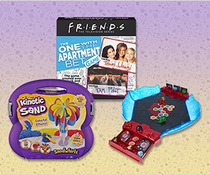 Free Kinetic Sand Playset, Bakugan Game Board, Grouch Couch Game, Friends TV Show And More