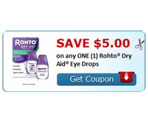 Save $5.00 on any ONE (1) Rohto® Dry Aid® Eye Drops