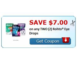 Save $7.00 on any TWO (2) Rohto® Eye Drops