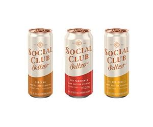 Free Social Club Seltzer, Custom Ice Mold, Hi-Ball Glasses And Coasters
