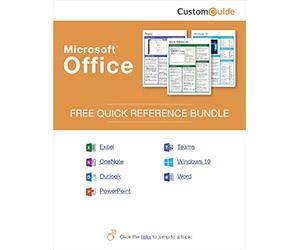 "Free Kit: ""Microsoft Office 2019 -- Free Reference Card Bundle"""