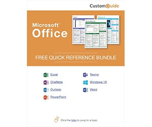 "Free Kit: ""Microsoft Office 2019 -- Free Reference Card Bundle"""